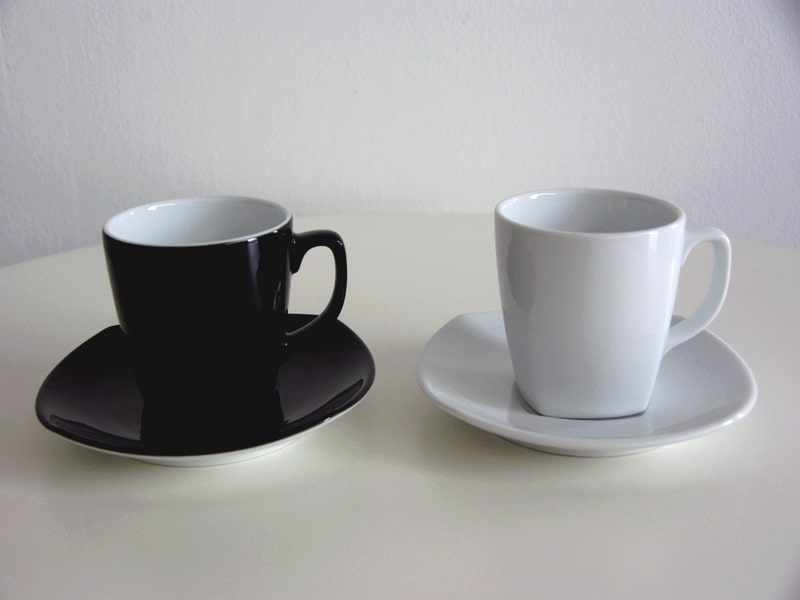 location tasse thé café kara noir blanche